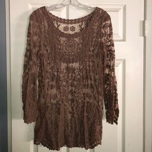 Other - Brown Lace Cover Up